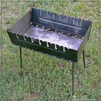 Мангал - чемодан на 8 шампуров (усиленный)